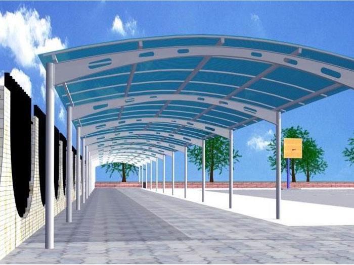 喜欢停车棚膜结构的停车场吗?有何特点